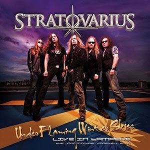 Stratovarius - Under Flaming Winter Skies - Live in Tampere cover art