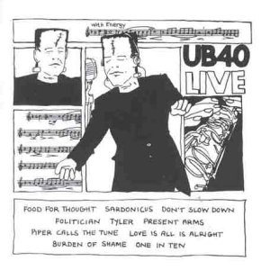 UB40 - Live cover art