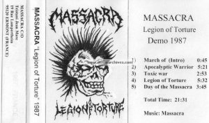Massacra - Legion of Torture cover art