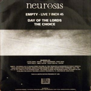 Neurosis - Empty cover art