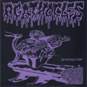 "Agathocles - 20 Songs 7"" EP cover art"