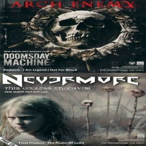 Arch Enemy / Nevermore - Doomsday Machine / This Godless Endeavor cover art