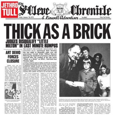 Jethro Tull - Thick as a Brick cover art