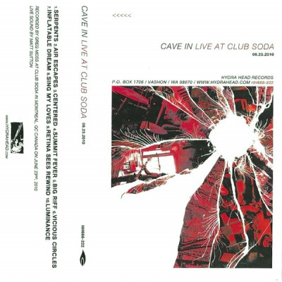 Cave In - Live At Club Soda 06.23.2010 cover art